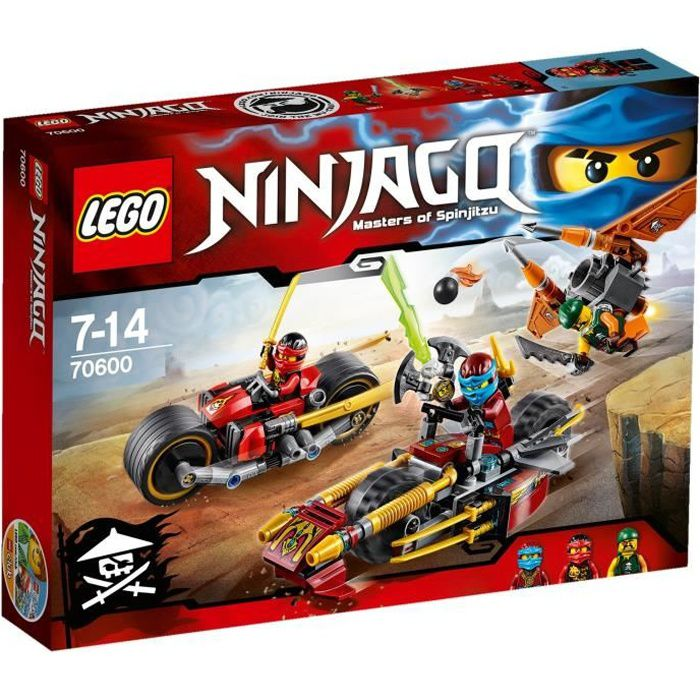 assemblage construction lego ninjago 70600 la poursuite en moto des ninja