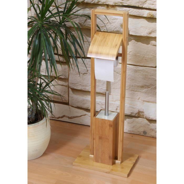 Servante de toilette en bois 82 x 30 x 21 cm achat vente serviteur wc se - Idee toilette originale ...