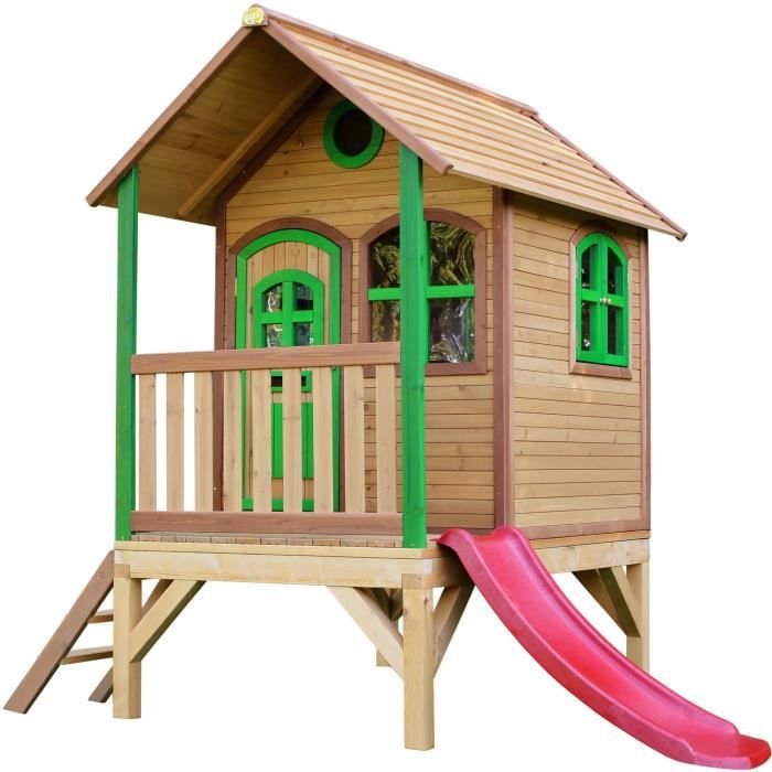 Axi maisonnette enfant cabane en bois tom achat vente for Maison plein air enfant