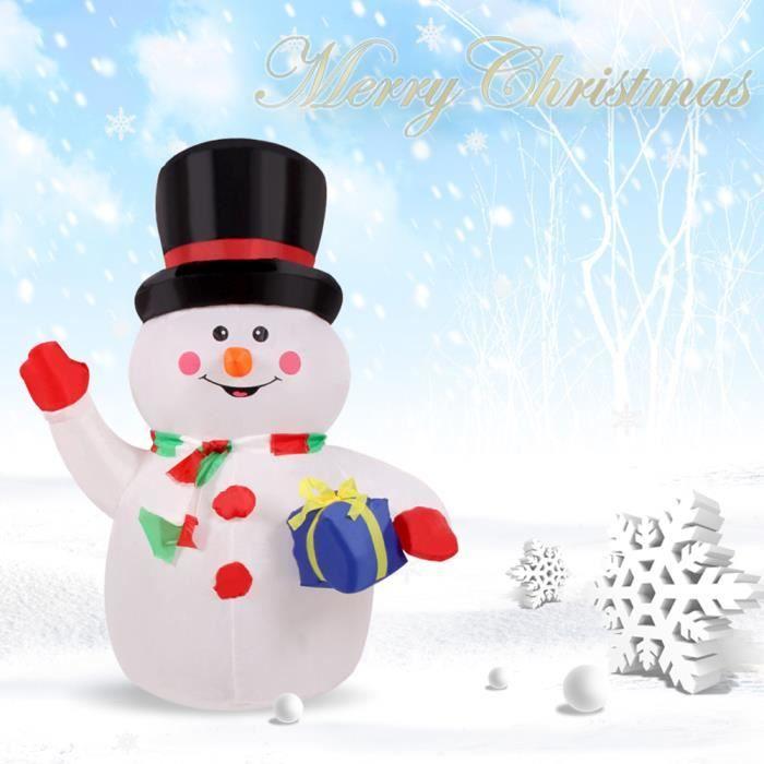 1 2m gonflable bonhomme de neige la main en agitant pour - Modele bonhomme de neige ...