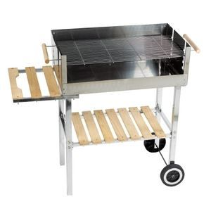 barbecue charbon party grill inox achat vente barbecue barbecues cdiscount. Black Bedroom Furniture Sets. Home Design Ideas