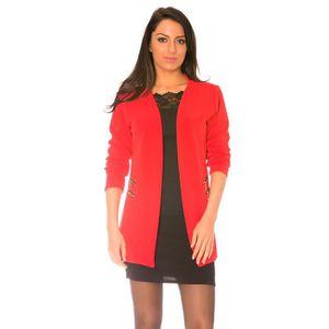 veste blazer rouge femme achat vente veste blazer. Black Bedroom Furniture Sets. Home Design Ideas