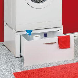 Socle avec tiroir pour machine laver s che linge achat - Machine a laver et seche linge ...