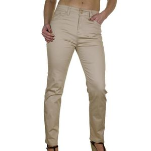 JEANS Pantalon en Jeans Chinos Extensible Beige Brillant