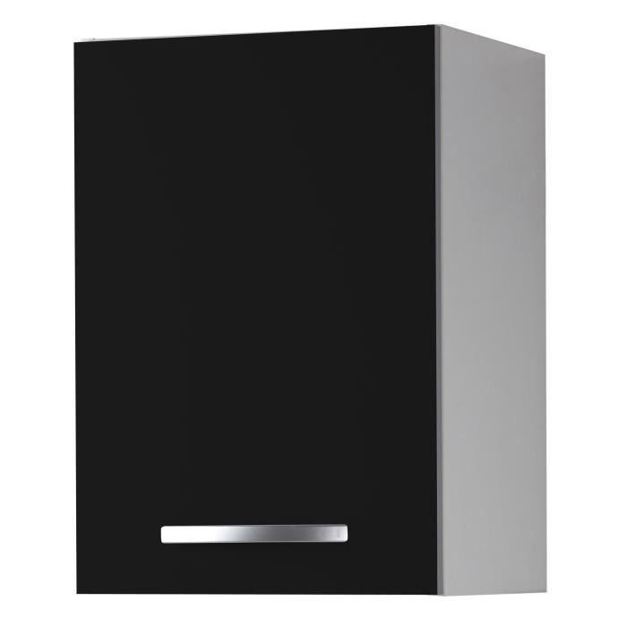 harmony caisson haut de cuisine 40cm noir achat. Black Bedroom Furniture Sets. Home Design Ideas
