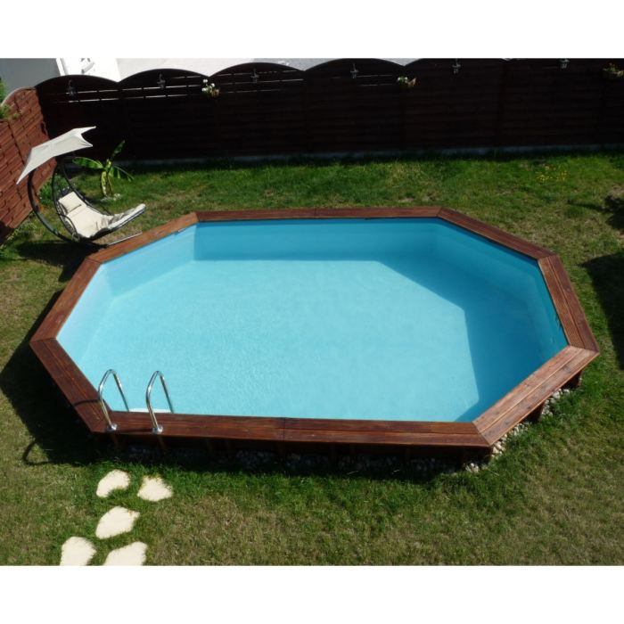 Piscine ovale semi enterr e pas cher for Piscine semi enterre