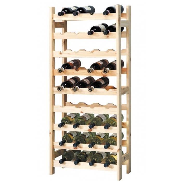 Porte bouteilles en bois meuble de rangement achat for Meuble porte bouteille vin