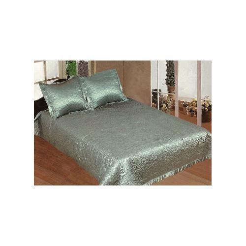 couvre lit vert amande fleurs 2 taies d 39 oreiller achat vente jet e de lit boutis cdiscount. Black Bedroom Furniture Sets. Home Design Ideas