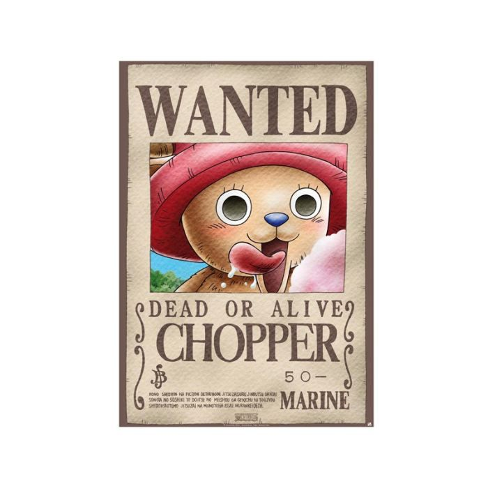 Poster one piece 39 wanted chopper 39 98x68cm achat - Affiche wanted one piece ...