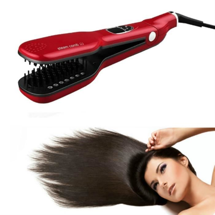 vapeur spray cheveux lisseur brosse peigne vapor lisseurs. Black Bedroom Furniture Sets. Home Design Ideas