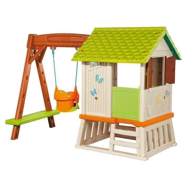 Balancoire portique winnie l 39 ourson maison foresti re for Maison plein air enfant
