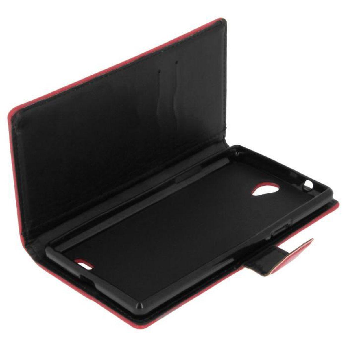 housse etui portefeuille archos 55 platinum rouge protection int grale achat housse. Black Bedroom Furniture Sets. Home Design Ideas