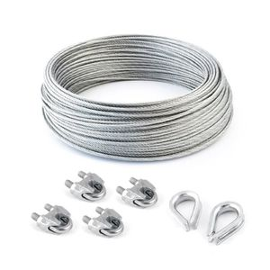 cable inox 4mm achat vente cable inox 4mm pas cher cdiscount. Black Bedroom Furniture Sets. Home Design Ideas