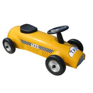 porteur voiture de course m tal jaune achat vente porteur pousseur soldes d t cdiscount. Black Bedroom Furniture Sets. Home Design Ideas