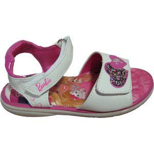 SANDALE - NU-PIEDS Sandales blanches Barbie pour filles