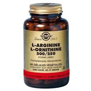 ACIDES AMINÉS L-Arginine L-Ornithine 500 mg/250 mg - 50 gélules