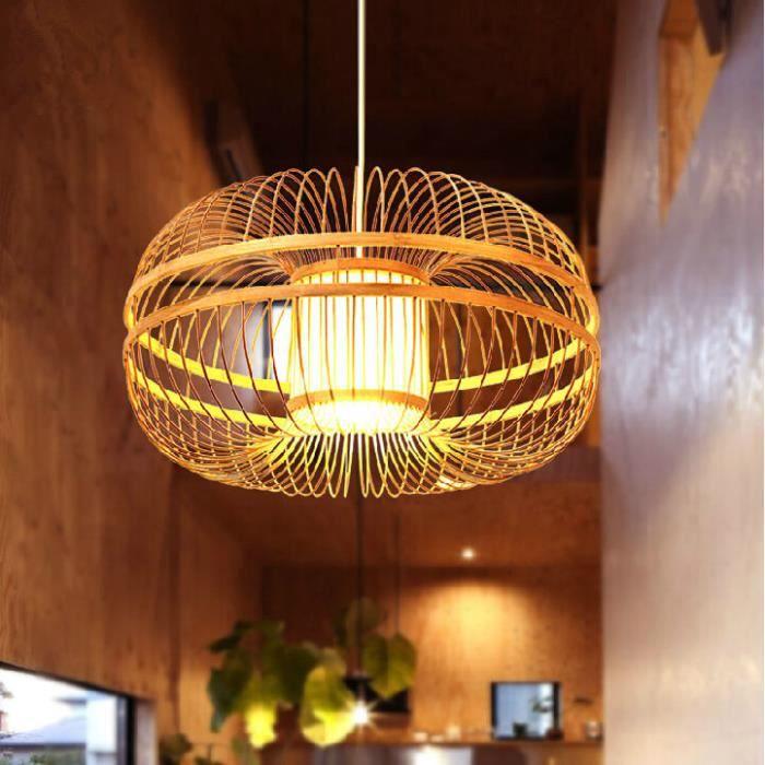 tiss s la main en bambou naturel lustre vert l gant restaurant de l 39 h tel jardin lustre en. Black Bedroom Furniture Sets. Home Design Ideas