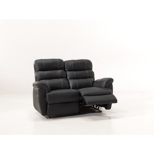 Canape Relax Cuir Dina Luxe 2 Places Achat Vente Canap Sofa Divan Cdiscount