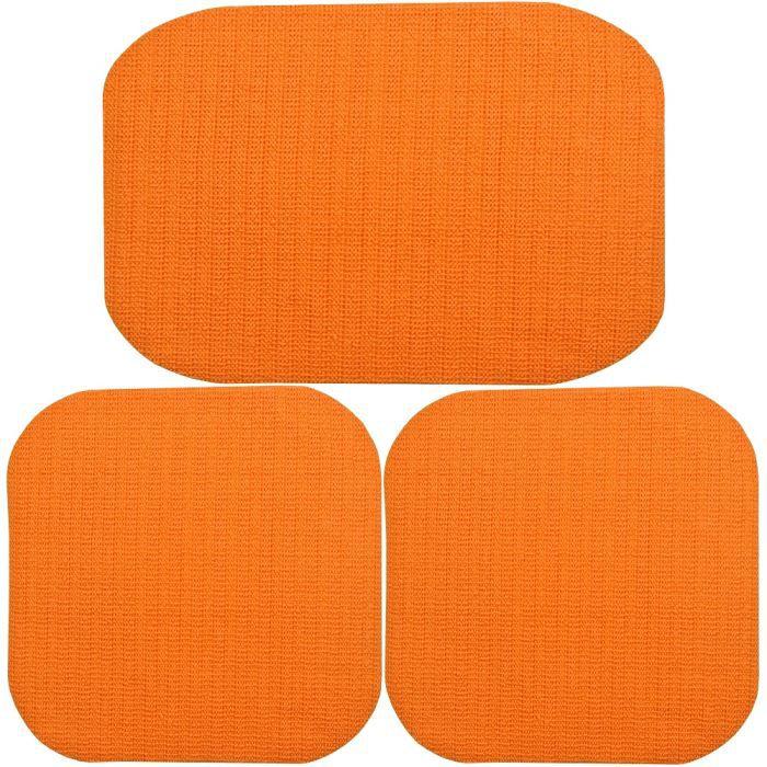 Lot 3 tapis cuisine evier city multiusage antid achat - Tapis de cuisine orange ...