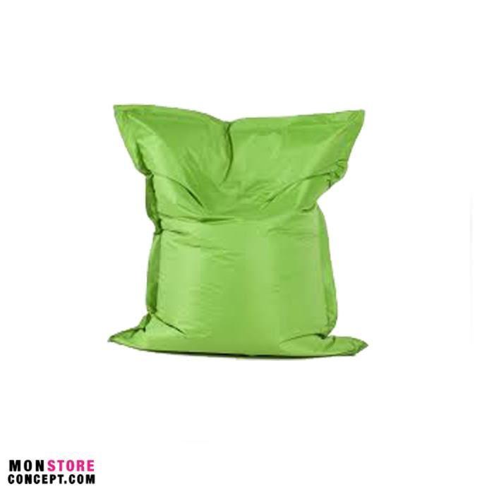 housse pour pouf g ant avec bille couleur vert achat vente pouf poire cdiscount. Black Bedroom Furniture Sets. Home Design Ideas