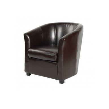fauteuil tonneau les cuirs achat vente fauteuil. Black Bedroom Furniture Sets. Home Design Ideas