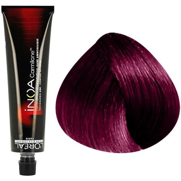 coloration inoa carmilane c56 chatain clair rouge 60 ml - Coloration Inoa Supreme