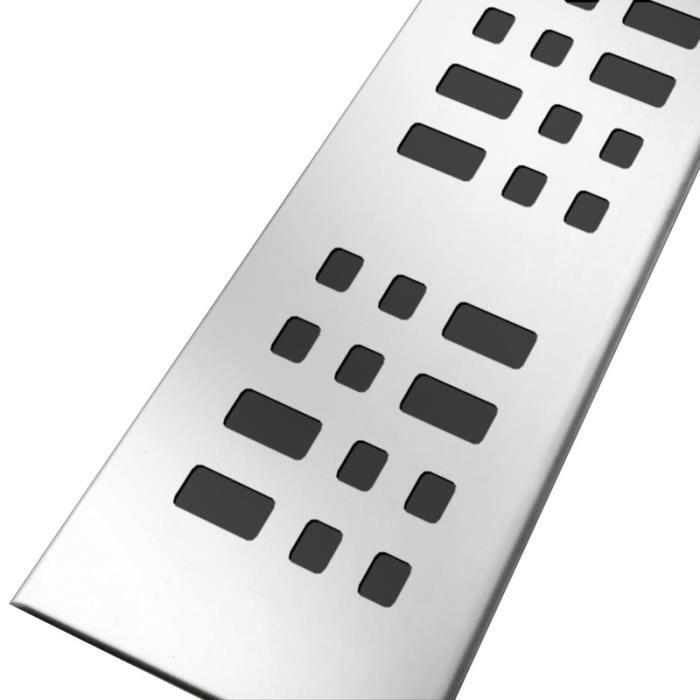 grille en inox avec motifs carr s largeur 50mm pour. Black Bedroom Furniture Sets. Home Design Ideas