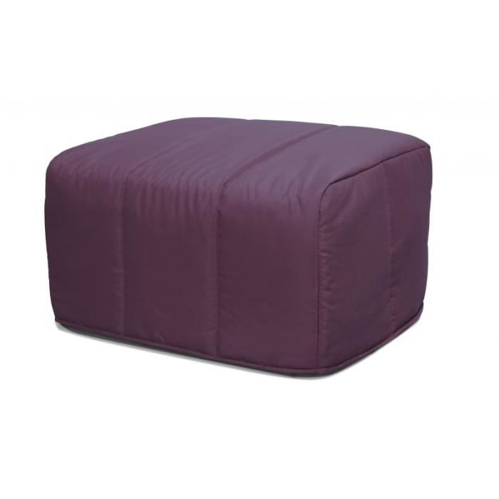 pouf convertible cubo violine achat vente chauffeuse cdiscount. Black Bedroom Furniture Sets. Home Design Ideas