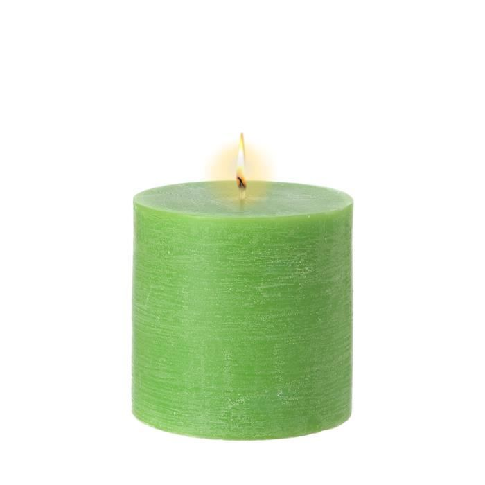 Bougie Cylindrique Verte Achat Vente Bougie Cdiscount
