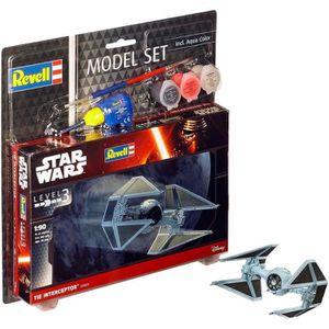 STAR WARS Model Set Tie Interceptor Maquette ? Construire, ? Coller et ? Peindre, Avec Accessoires