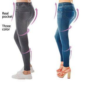 JEANS Trois couleurs vraiment poche de jeans leggings...