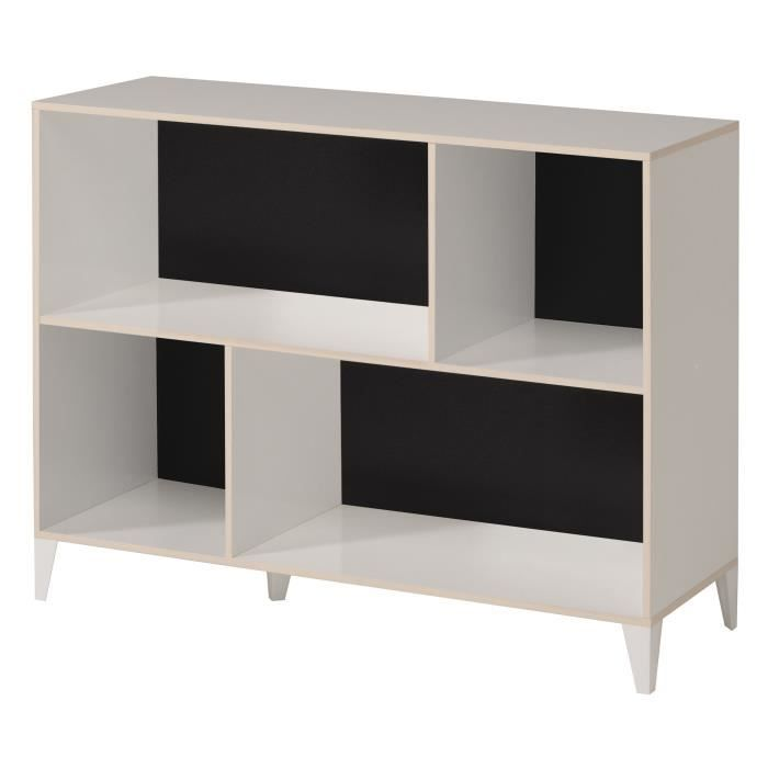 karea meuble de rangement scandinave d cor blanc et acacia. Black Bedroom Furniture Sets. Home Design Ideas