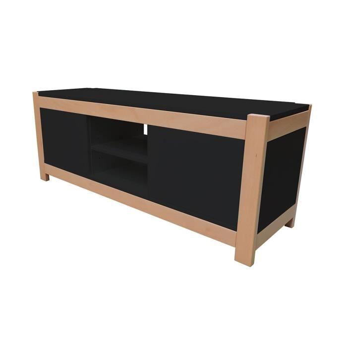 Meuble tv 2 portes berlin achat vente meuble tv meuble for Meuble mural 2 portes