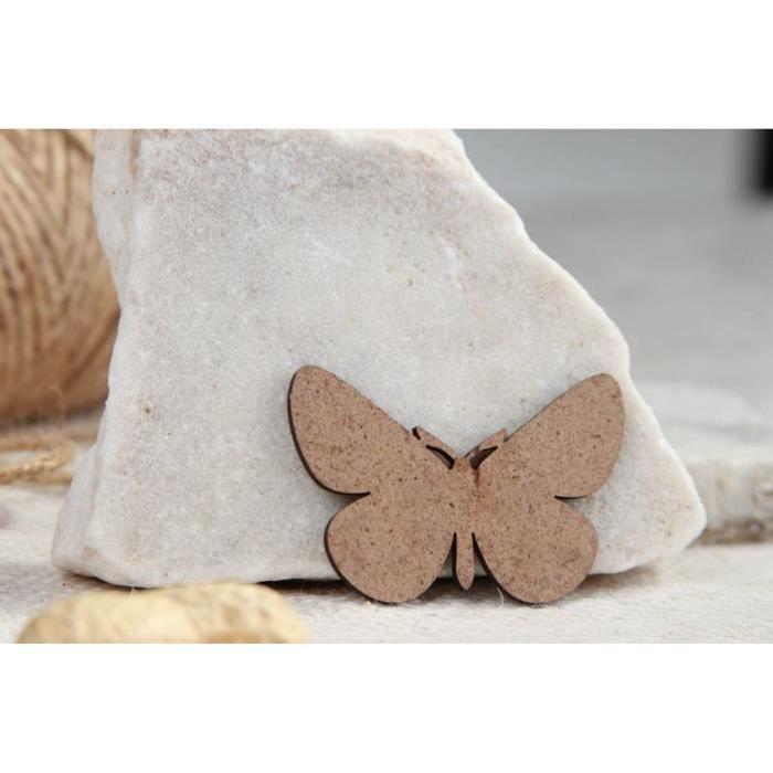 chipboard papillon en bois pour albums photos scrapbooking. Black Bedroom Furniture Sets. Home Design Ideas