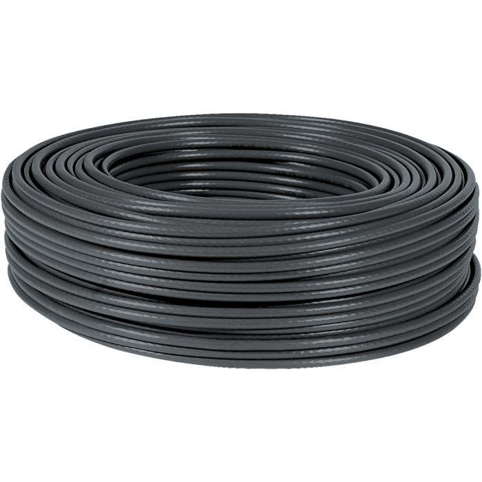 bobine de cable rj45 cat6 multibrin ftp 100m noir prix pas cher soldes cdiscount. Black Bedroom Furniture Sets. Home Design Ideas