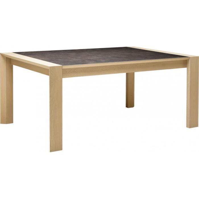table rectangulaire c ramique ch ne naturel 1 allonge l150 achat vente table manger table. Black Bedroom Furniture Sets. Home Design Ideas