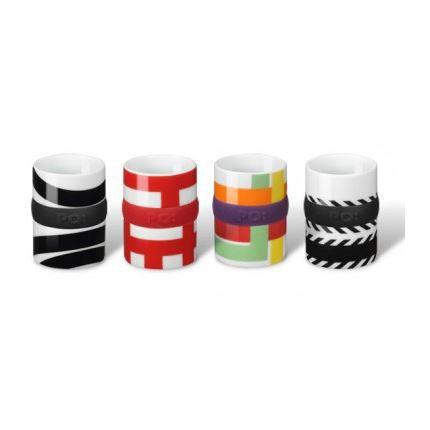 set de 4 tasses expresso design po selected achat. Black Bedroom Furniture Sets. Home Design Ideas