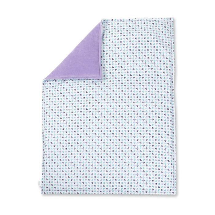 Couverture molletonn e b b en coton biologique bleu - Couverture en coton ...