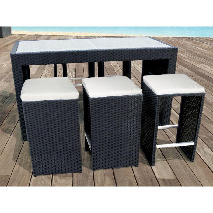 salon bar de jardin santiago en r sine tress e achat. Black Bedroom Furniture Sets. Home Design Ideas