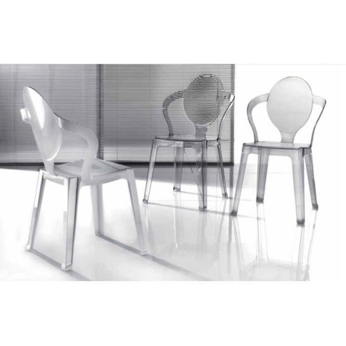 Calliope chaise design en plexi transparent achat for Chaise en plexi