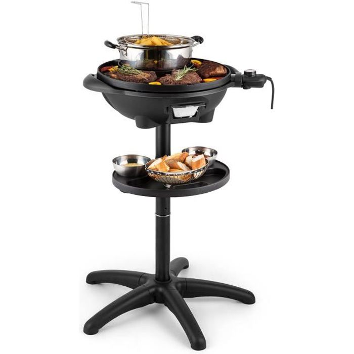 Klarstein grillpot grill lectrique 1600w barbecue gril de table 40cm gril fo - Barbecue electrique puissant ...