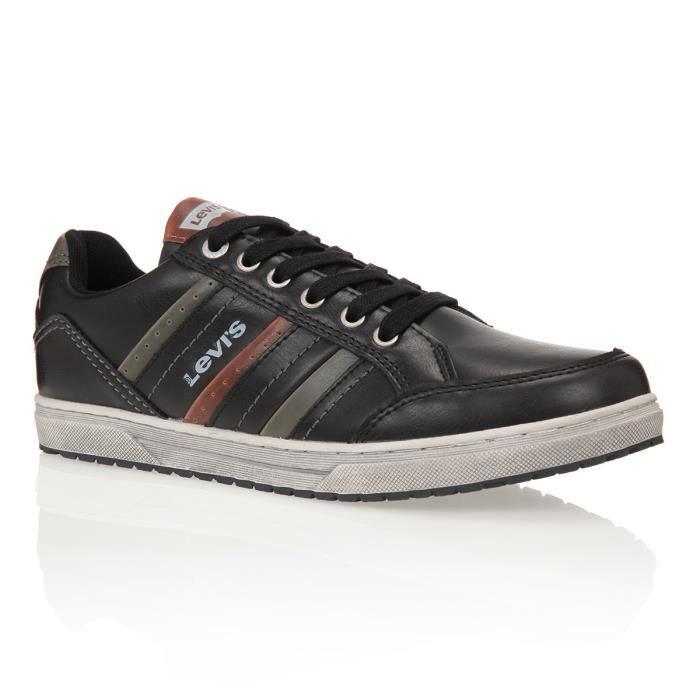 levi 39 s baskets 224181 chaussures homme homme noir gris et marron achat vente levi 39 s baskets. Black Bedroom Furniture Sets. Home Design Ideas