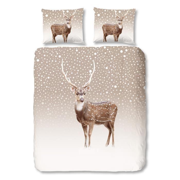good morning parure de couette winter style scandinave 1 housse de couette 220x240 cm 2. Black Bedroom Furniture Sets. Home Design Ideas