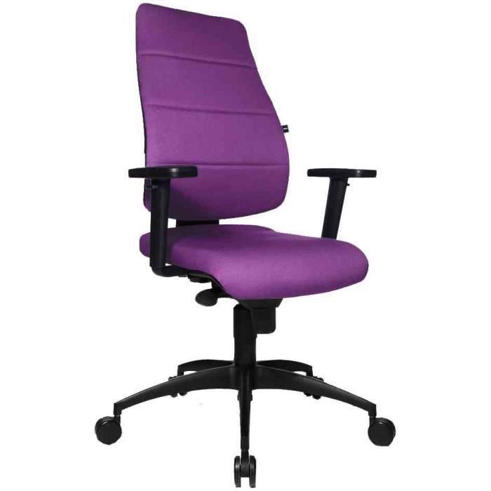 Si ge de bureau synchro net tissu violet achat - Chaise de bureau violet ...
