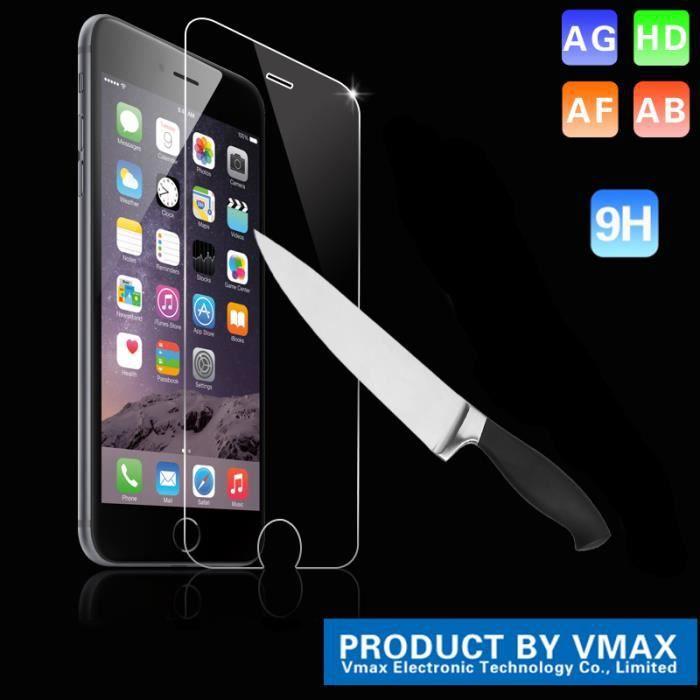 vitre de protection anti chocs en verre trempe 9h kit de nettoyage iphone 6 achat coque. Black Bedroom Furniture Sets. Home Design Ideas