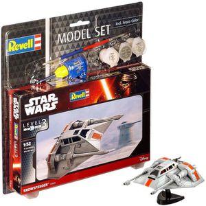 STAR WARS Model Set Snowspeeder Maquette ? Construire, ? Coller et ? Peindre, Avec Accessoires