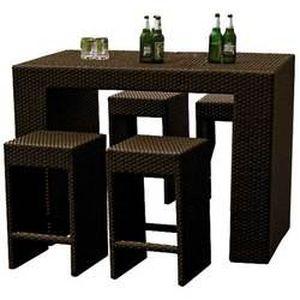 mange debout vicky marron 4 achat vente bar de jardin. Black Bedroom Furniture Sets. Home Design Ideas