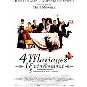 AFFICHE 4 Mariages et 1 Enterrement - 1993 - Hugh Grant -