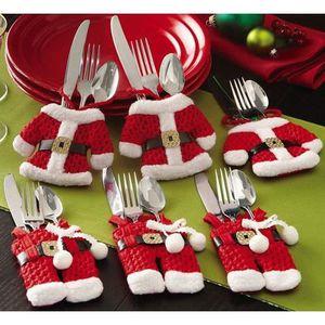 mnagre xmas vtement de couteau et fourchette vaisselle f - Vaisselle Colore Pas Cher