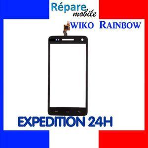 PIÈCE TÉLÉPHONE VITRE TACTILE ECRAN NOIR WIKO RAINBOW + KIT OUTILS